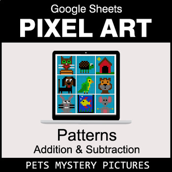 Number Patterns: Addition & Subtraction - Google Sheets - Pets