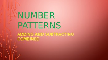 Number Patterns Addition and Subtraction Combined