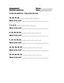 Number Patterns - Assessment