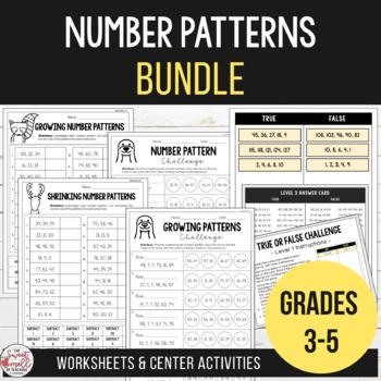 Number Patterns Bundle - Investigate Growing & Shrinking Number Patterns