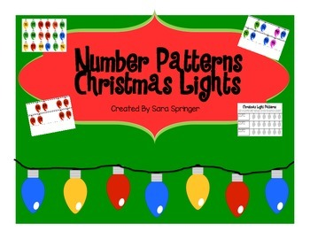 Number Patterns-Christmas Lights