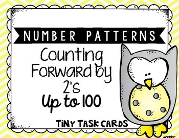 Number Patterns Counting Forward by 2s up to 100 Tiny Task Cards