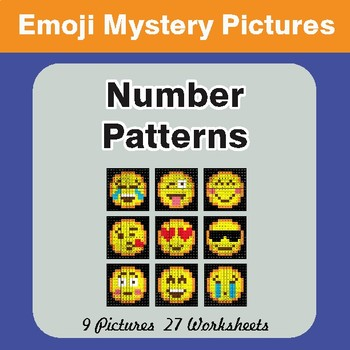 Number Patterns EMOJI Math Mystery Pictures - (Misc Operations)