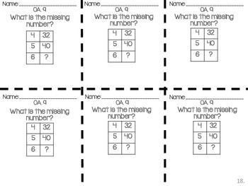 Number Patterns Exit Tickets