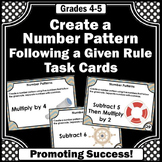 Number Pattern Task Cards 4th Grade Math Centers
