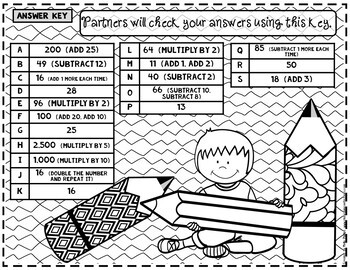 Number Patterns GAME: 4th Grade 4.OA.C.5: Analyze Patterns