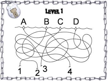 Number Patterns Game: Escape Room Math