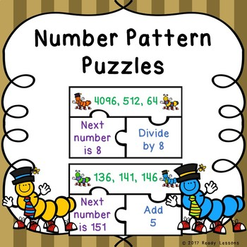 Number Patterns Game Puzzles 4.OA.5