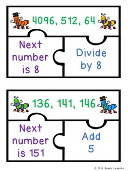 Numbers Pattern Game Puzzles Finding Number Patterns and Rules 4th Grade 4.OA.5