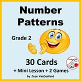 Number Pattern TASK CARDS   Mini Lesson ... Missing Numbers   CORE Gr 2 MATH