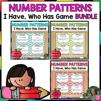 Number Patterns I Have Who Has BUNDLE