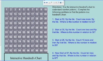 Number Patterns-  Interactive Hundreds Chart Practice