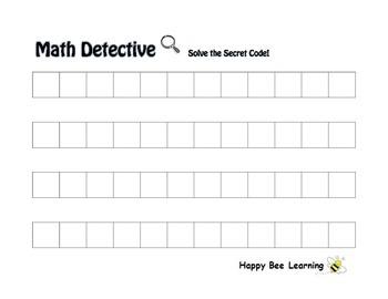 Number Patterns Math Detective