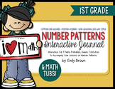 Number Patterns Math Journal Activities and Math Tubs