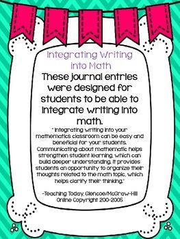 Number Patterns Math Journals