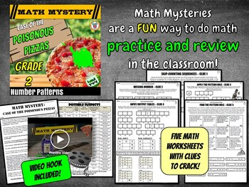 2nd Grade Number Patterns Review Activity: with Skip-Counting, Missing Numbers