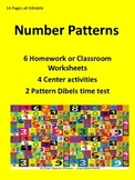 Number Patterns Math Practice.... Editable