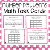 3rd Grade Number Patterns Math Task Cards | Number Pattern