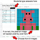 Number Patterns: Misc Operations - Google Sheets Pixel Art - Animals