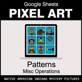 Number Patterns: Misc Operations - Google Sheets Pixel Art - Indians