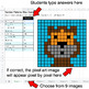 Number Patterns: Misc Operations - Google Sheets Pixel Art - Pets