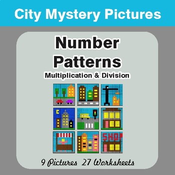 Number Patterns: Multiplication & Division - Color By Number Mystery ...
