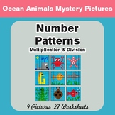 Number Patterns: Multiplication & Division - Color-By-Number Mystery Pictures
