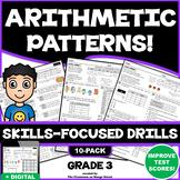3RD GRADE NUMBER PATTERNS: 10 Skills-Boosting Practice Worksheets (3.OA.9)