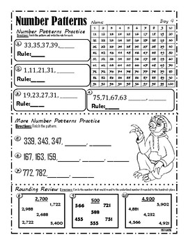 Number Patterns Practice