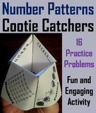 Number Sequence Activity 3rd 4th 5th 6th Grade Cootie Catcher Review Game
