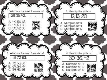Number Patterns QR Codes