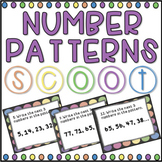 Number Patterns SCOOT! Game, Task Cards or Assessment
