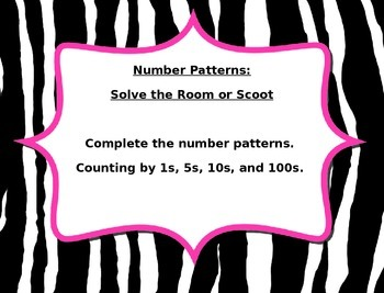Number Patterns Scoot