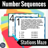 Number Patterns Stations Maze Activity