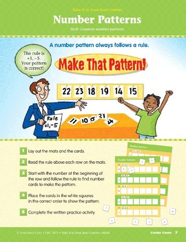 Number Patterns (Take It to Your Seat Centers Common Core Math)