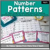 Number Patterns Task Cards: identifying & explaining arith