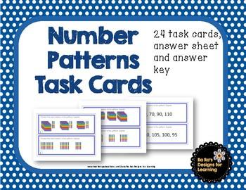 Number Patterns Task Cards