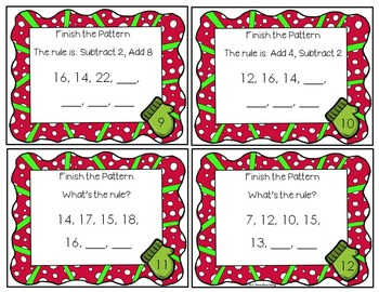 Number Patterns Task Cards - Addition and Subtraction