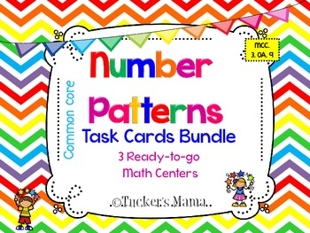 Number Patterns Task Cards Bundle