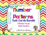 Number Patterns Task Cards Bundle