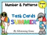 First Grade Math Task Cards - Summer Theme
