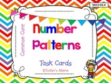 Number Patterns Task Cards (set 1)