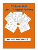 Number Patterns - Unit 2 Second Grade Math