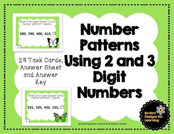 Number Patterns Using 2 and 3 Digit Numbers
