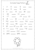 Number Patterns Worksheet