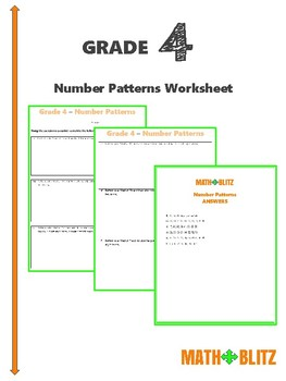 Number Patterns Worksheets Teachers Pay Teachers