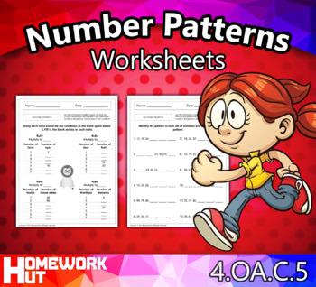 4.OA.5 - Number Patterns Worksheets