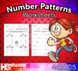 Distance Learning - Number Patterns Worksheets