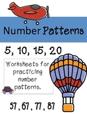 Number Patterns Worksheets Summer Math Review