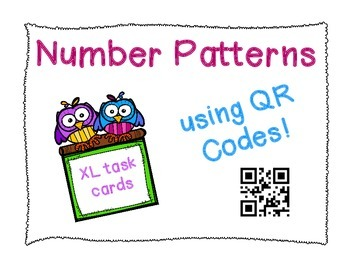 Number Patterns X-Large Task Cards